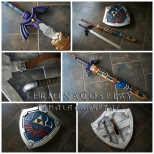 Link's Master Sword and Hylian Shield- Hyrule Warriors
