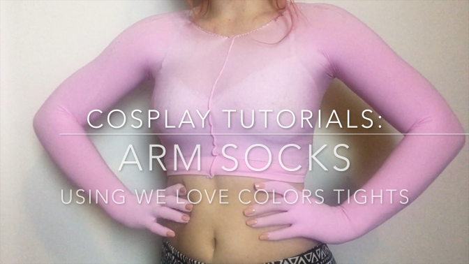 Making Arm Socks with We Love Colors Tights