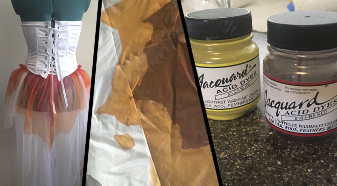 Cosplay Tutorials: Painting Fabric with Acid Dye